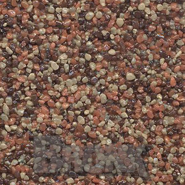Mosaikputz Buntsteinputz 15 kg, Körnung 1,0-1,6 mm sand-rot-braun TM34