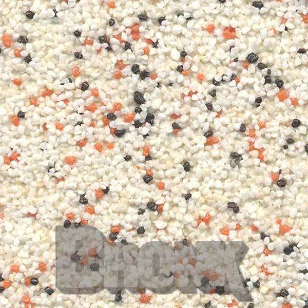 Mosaikputz Buntsteinputz 15 kg, Körnung 1,0-1,6 mm beige-orange-schwarz TM42