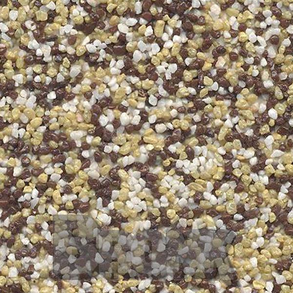 Mosaikputz Buntsteinputz 15 kg, Körnung 1,0-1,6 mm weiß-gelb-braun TM50