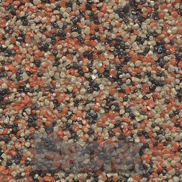 Mosaikputz Buntsteinputz 15 kg, Körnung 1,0-1,6 mm sand-rot-schwarz TM36