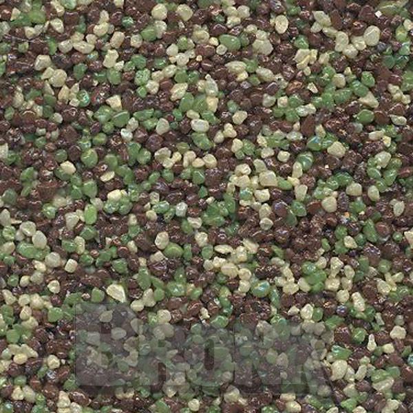 Mosaikputz Buntsteinputz 15 kg, Körnung 1,0-1,6 mm sand/gelb-hellgrün-braun TM59