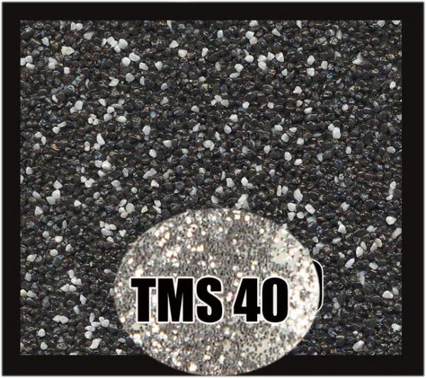 Buntsteinputz 7,5 kg Schwarz-Weiß-Silber Glitzer TMS40