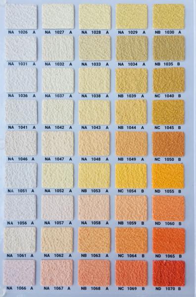 Silikonharz Scheibenputz mit Abperleffekt 2 und 3 mm, Farbgruppe 2