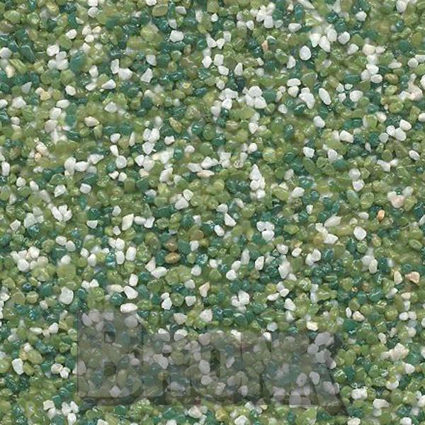 Mosaikputz Buntsteinputz 15 kg, Körnung 1,0-1,6 mm weiß-hellgrün-dunkelgrün TM57