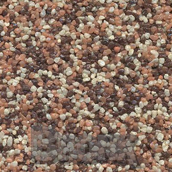 Mosaikputz Buntsteinputz 15 kg, Körnung 1,0-1,6 mm beige-orange/quarz-braun TM55
