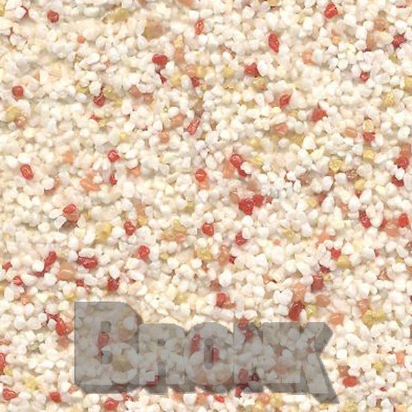 Mosaikputz Buntsteinputz 15 kg, Körnung 1,0-1,6 mm beige-gelb-orange-rot TM41