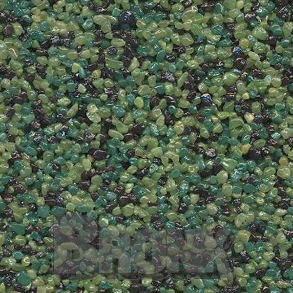 Mosaikputz Buntsteinputz 15 kg, Körnung 1,0-1,6 mm hellgrün-dunkelgrün-braun TM60