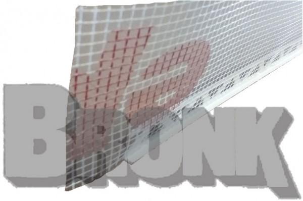 PVC - Abschlußprofil mit Gewebe 6 mm Putzdicke