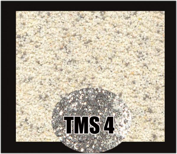 Mosaikputz Buntsteinputz 7,5 kg Beige-Grau-Silber Glitzer TMS4