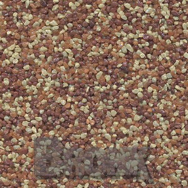 Mosaikputz Buntsteinputz 15 kg, Körnung 1,0-1,6 mm sand/gelb-orange/quarz-braun TM54