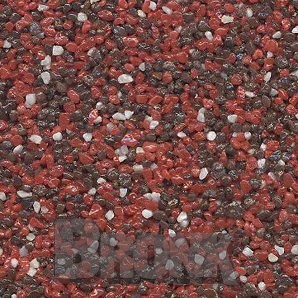 Mosaikputz Buntsteinputz 15 kg, Körnung 1,0-1,6 mm rot-braun-weiß TM64