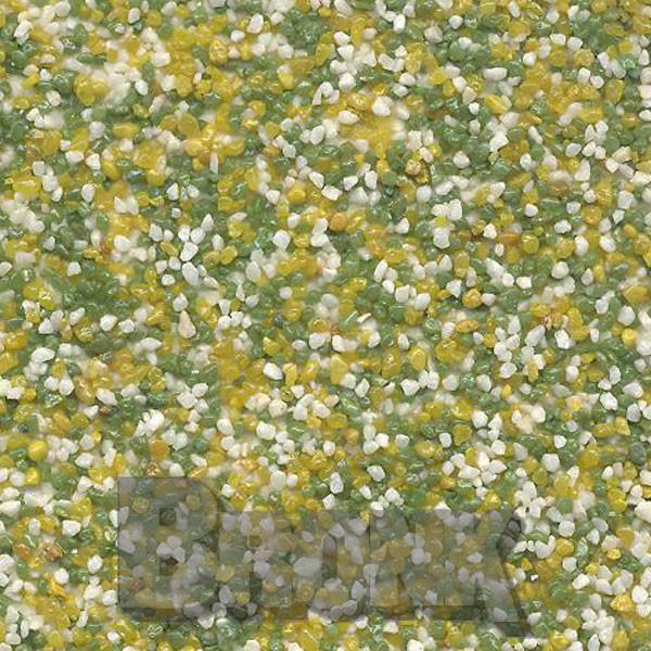 Mosaikputz Buntsteinputz 15 kg, Körnung 1,0-1,6 mm beige-gelb-grün TM19