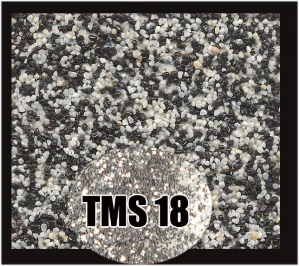 Buntsteinputz 7,5 kg Schwarz-Weiß-Silber Glitzer TMS18