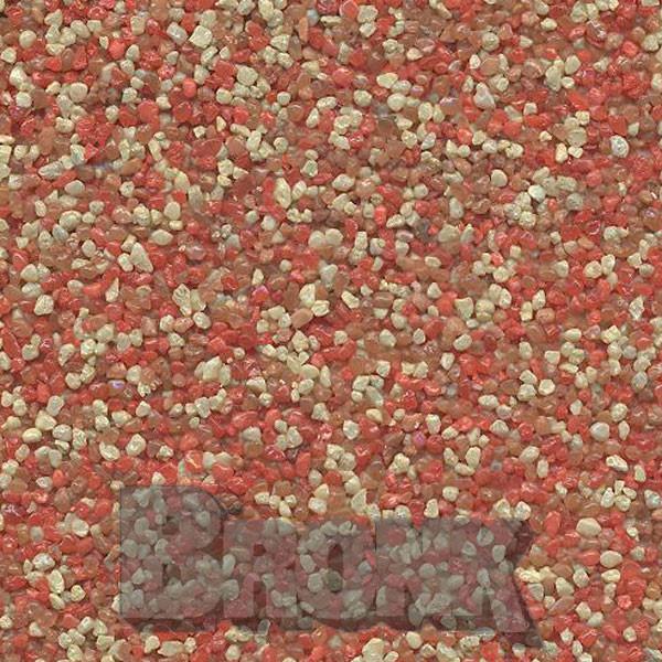 Mosaikputz Buntsteinputz 15 kg, Körnung 1,0-1,6 mm sand/gelb-orange-quarz/braun TM49