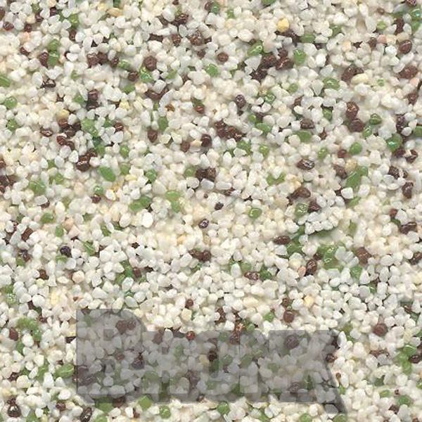 Mosaikputz Buntsteinputz 15 kg, Körnung 1,0-1,6 mm beige-grün-braun TM13