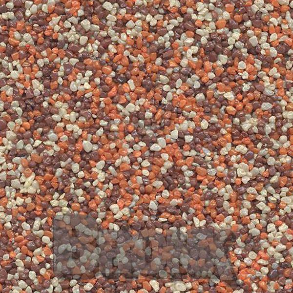 Mosaikputz Buntsteinputz 15 kg, Körnung 1,0-1,6 mm sand/gelb-orange-braun TM53