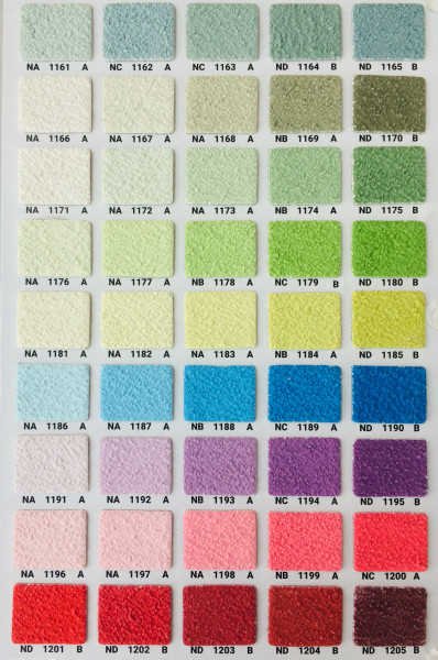 Silikonharz Scheibenputz mit Abperleffekt 2 und 3 mm, Farbgruppe 3