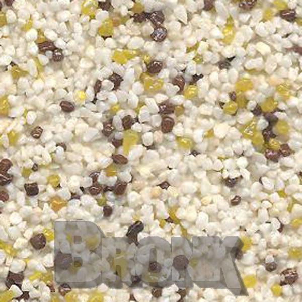 Mosaikputz Buntsteinputz 15 kg, Körnung 1,0-1,6 mm beige-gelb-braun TM11