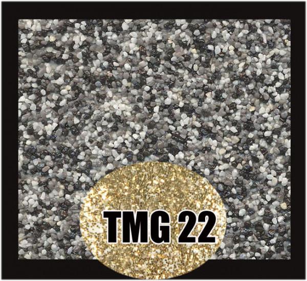 Buntsteinputz 7,5 kg Weiß-Grau-Schwarz-Gold Glitzer TMG22
