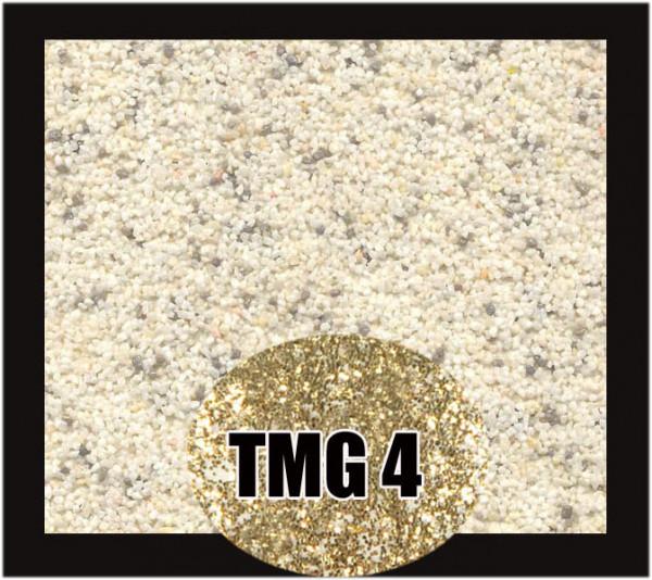Buntsteinputz 7,5 kg Weiß-Grau-Gold Glitzer TM4