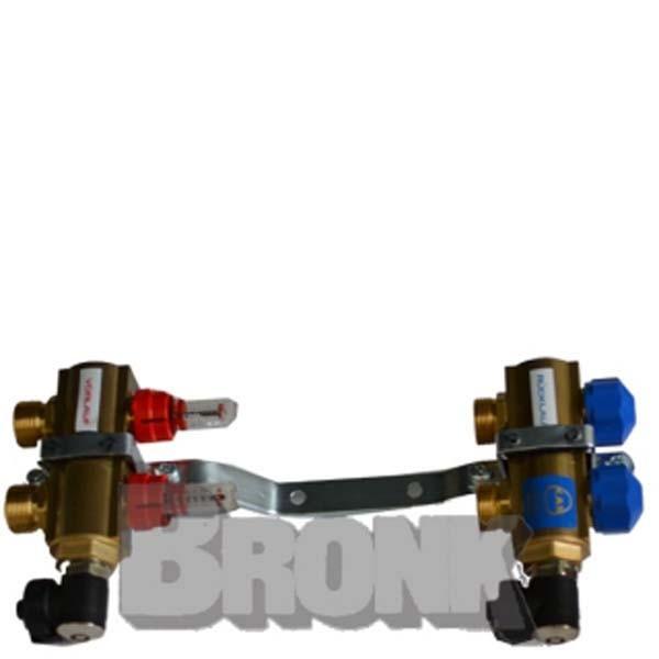 Heizkreisverteiler mit Durchflussmengenanzeiger / 2 Heizkreise