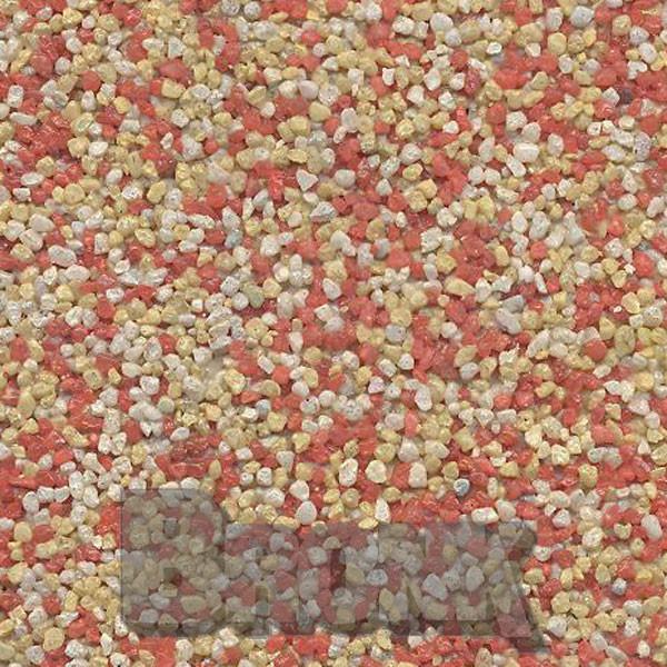 Mosaikputz Buntsteinputz 15 kg, Körnung 1,0-1,6 mm weiß-gelb-orange TM48