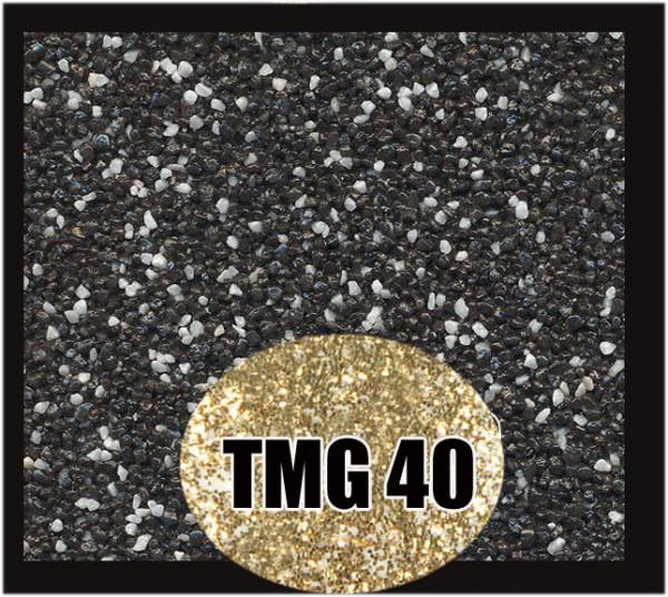 Buntsteinputz 7,5 kg Schwarz-Weiß-Gold Glitzer TMG40