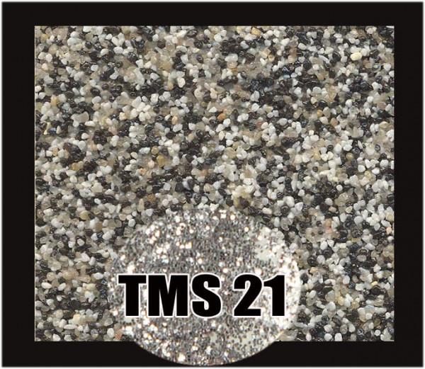 Buntsteinputz 7,5 kg Schwarz-Quarz-Weiß-Silber Glitzer TMS21